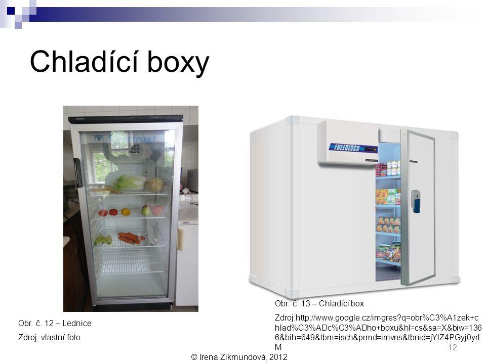 Chladící boxy Obr. č. 13 – Chladící box