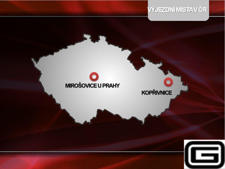 VÝJEZDNÍ MÍSTA V ČR MIROŠOVICE U PRAHY KOPŘIVNICE