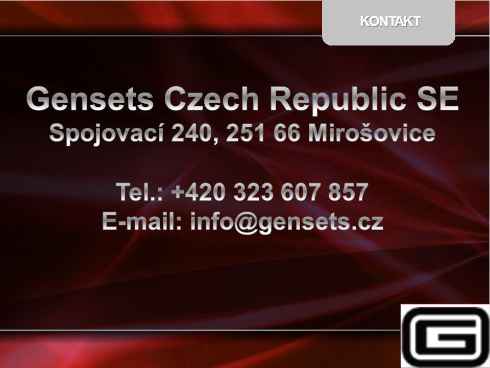 Gensets Czech Republic SE E-mail: info@gensets.cz