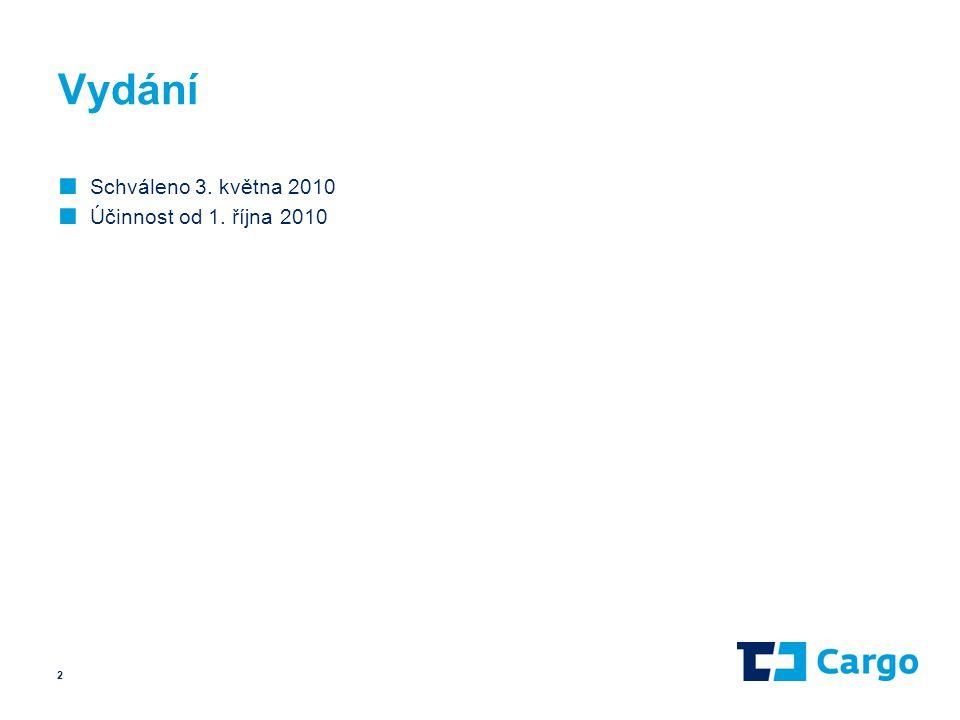 Vydání Schváleno 3. května 2010 Účinnost od 1. října 2010