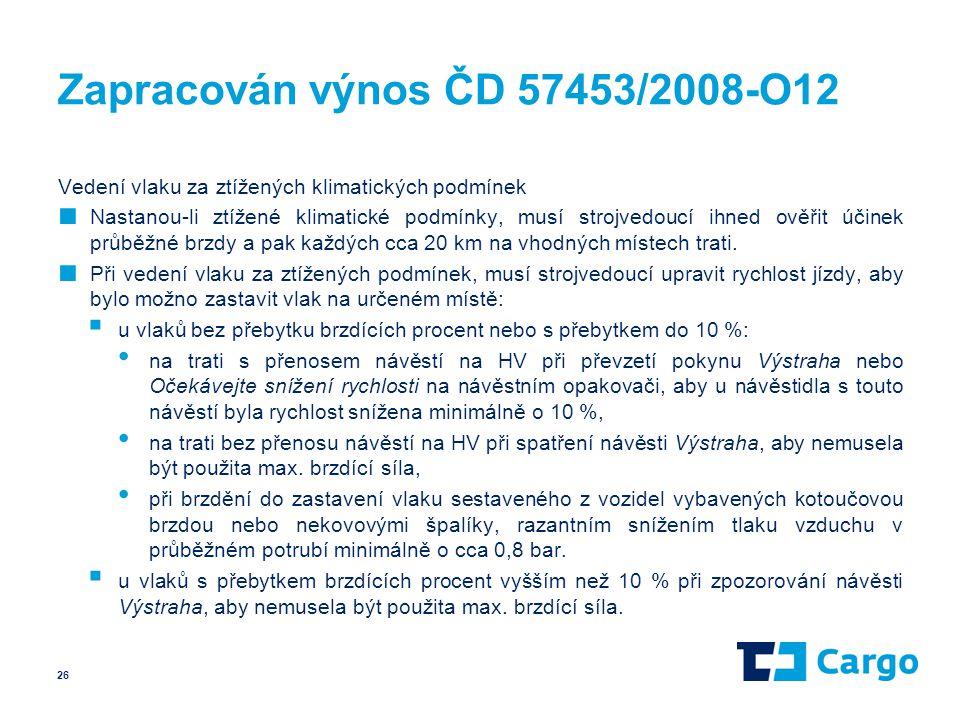 Zapracován výnos ČD 57453/2008-O12