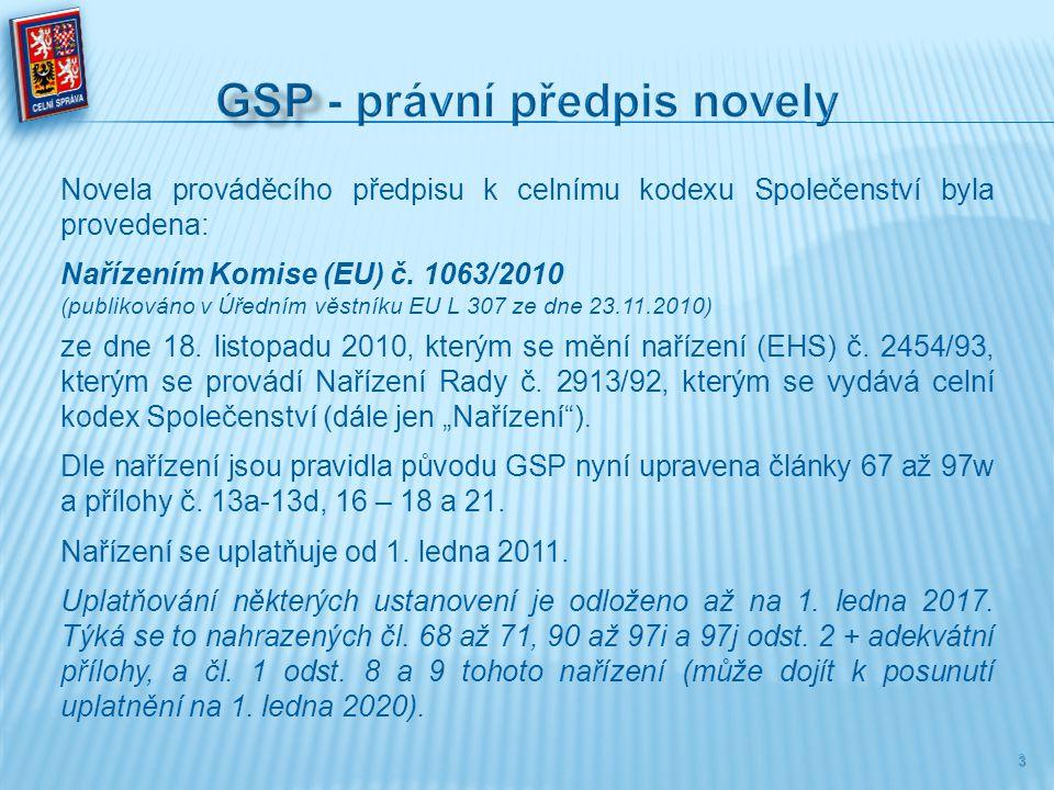 GSP - právní předpis novely