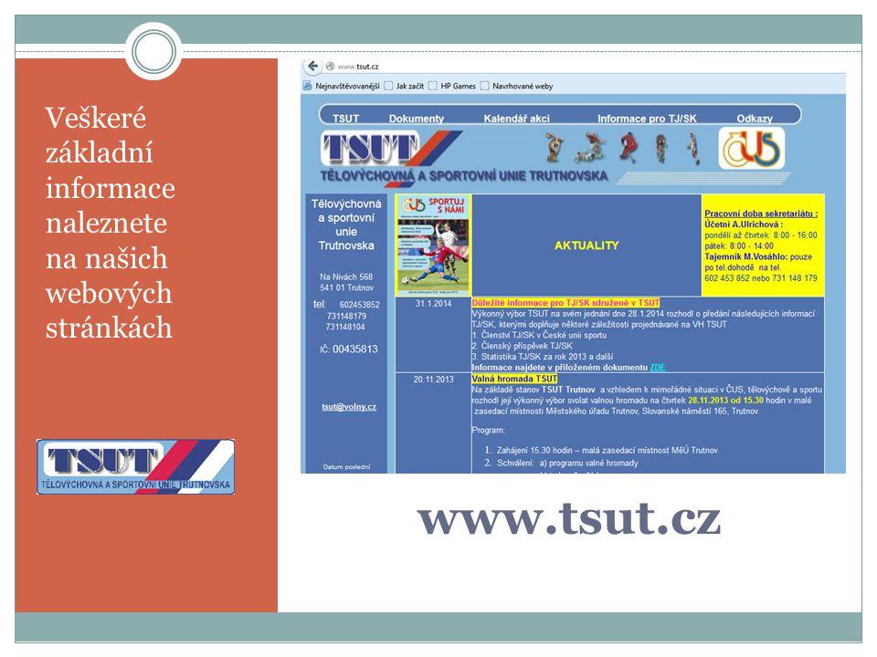 Veškeré základní informace naleznete na našich webových stránkách