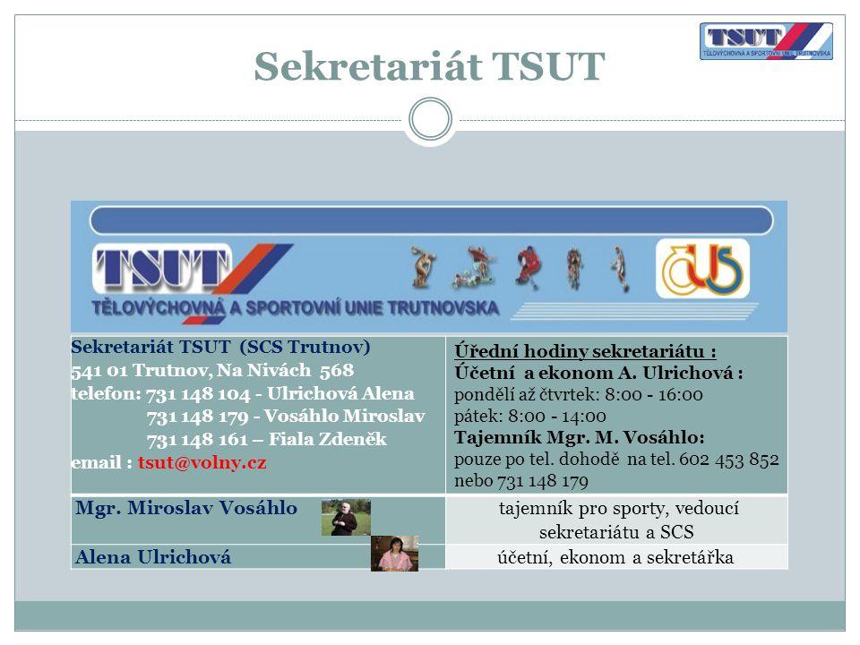 Sekretariát TSUT Mgr. Miroslav Vosáhlo