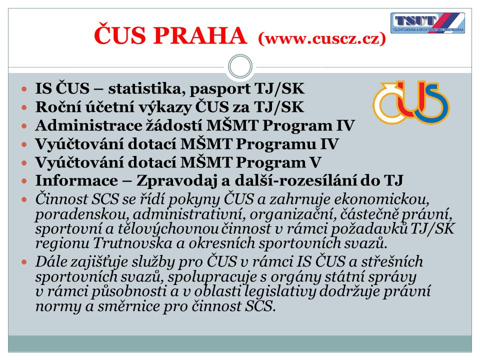 ČUS PRAHA (www.cuscz.cz)