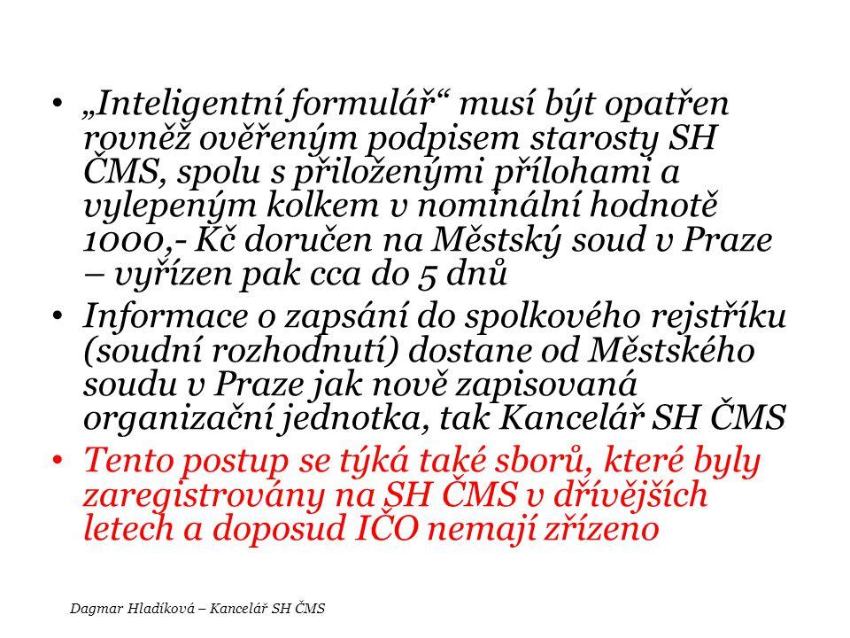 Dagmar Hladíková – Kancelář SH ČMS