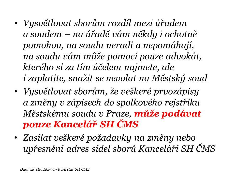 Dagmar Hladíková - Kancelář SH ČMS