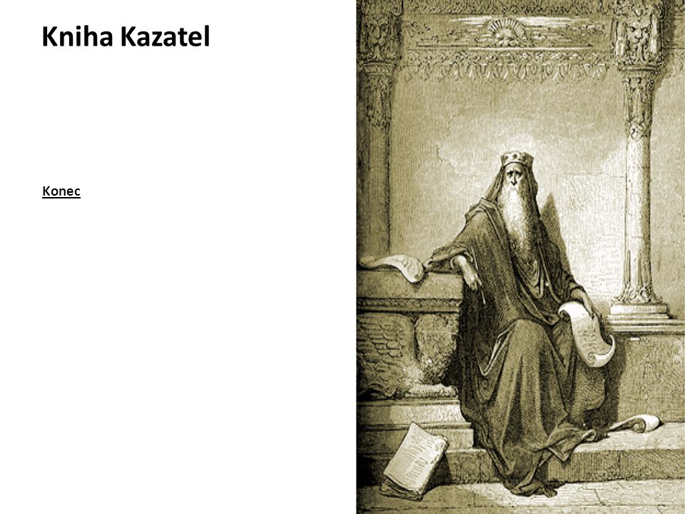 Kniha Kazatel Konec