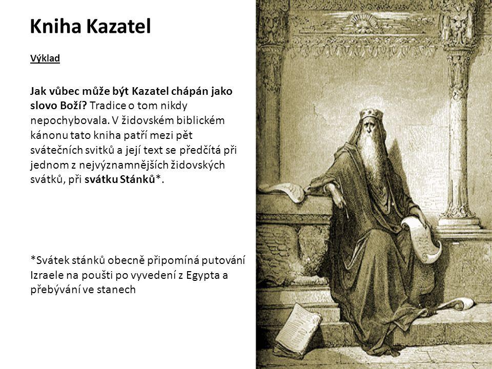 Kniha Kazatel Výklad.