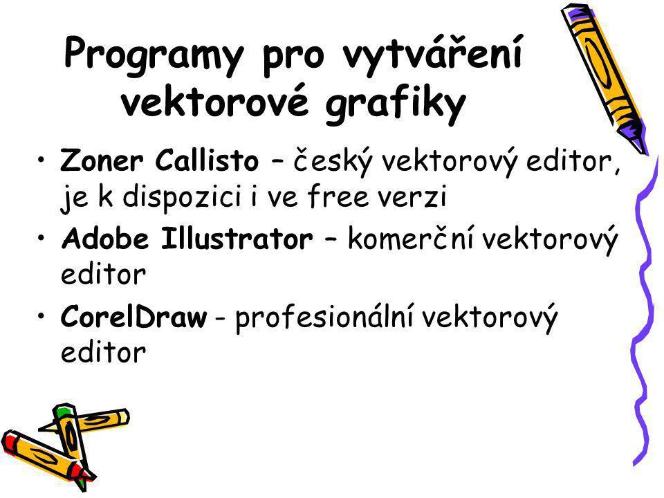 Programy pro vytváření vektorové grafiky