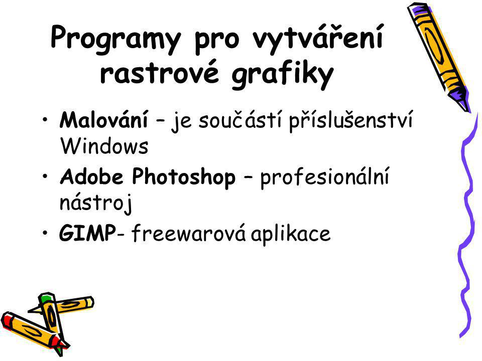 Programy pro vytváření rastrové grafiky