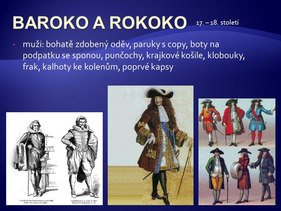BAROKO A ROKOKO 17. – 18. století.