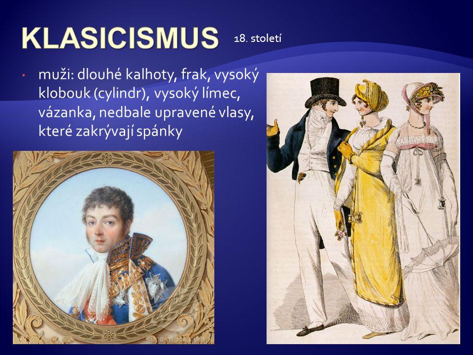 KLASICISMUS 18. století.