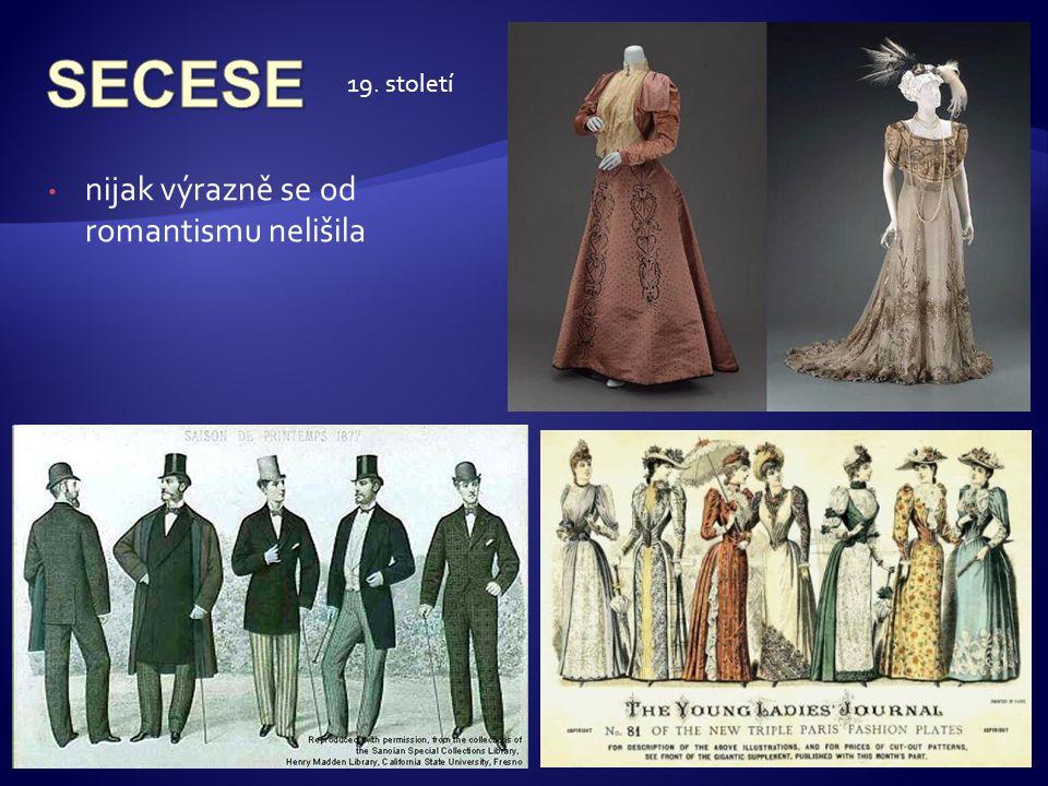 SECESE 19. století nijak výrazně se od romantismu nelišila