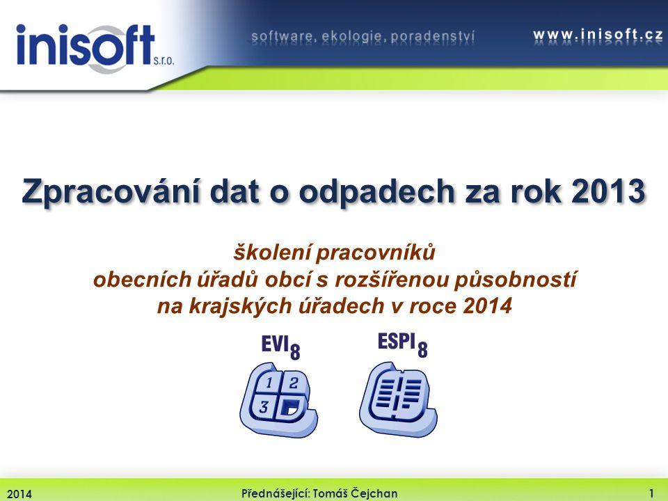 Zpracování dat o odpadech za rok 2013
