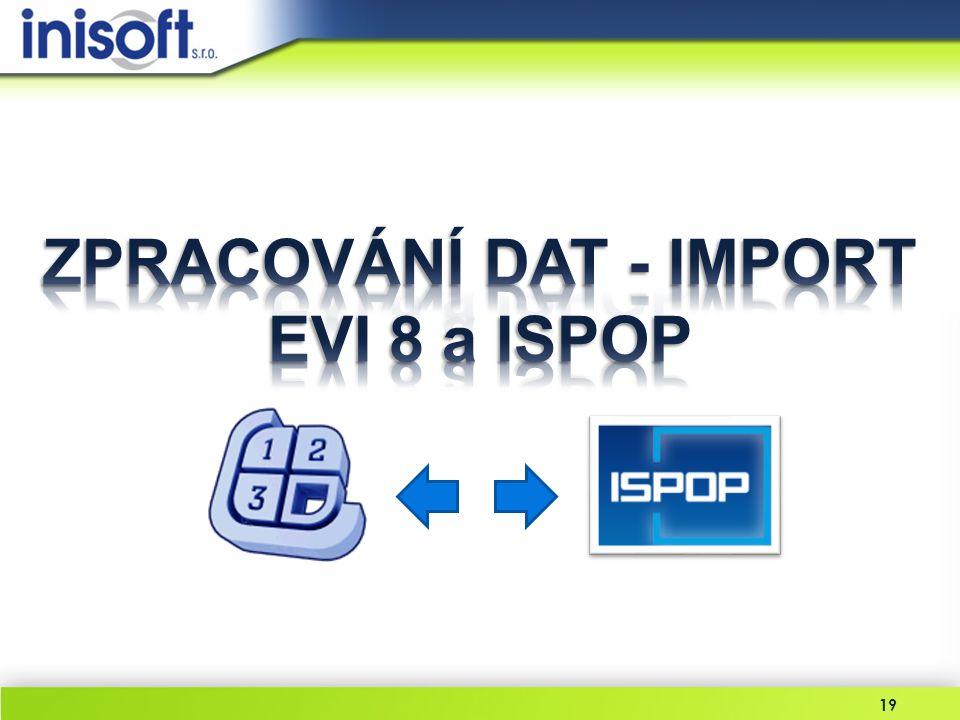 ZPRACOVÁNÍ DAT - IMPORT EVI 8 a ISPOP