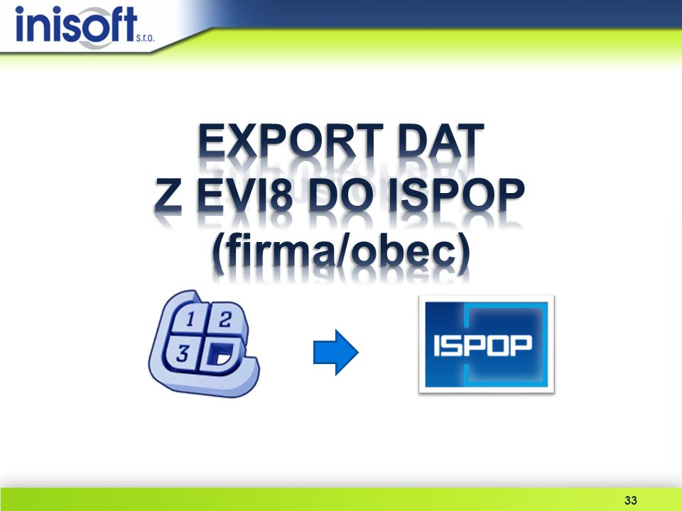 EXPORT DAT Z EVI8 DO ISPOP (firma/obec)