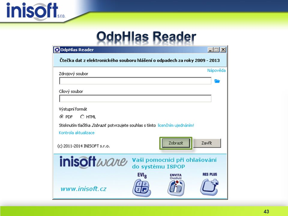 OdpHlas Reader