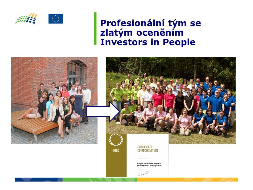 Profesionální tým se zlatým oceněním Investors in People