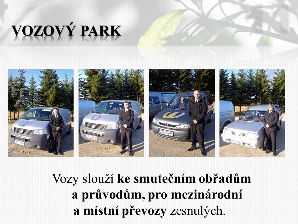 11 Vozový park.