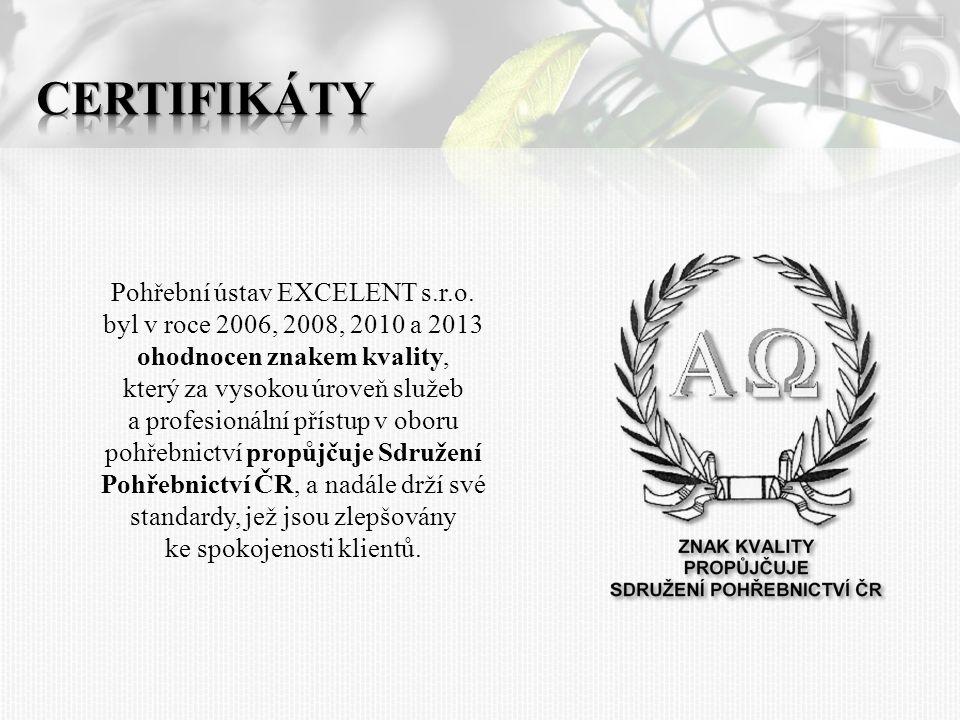 15 Certifikáty.