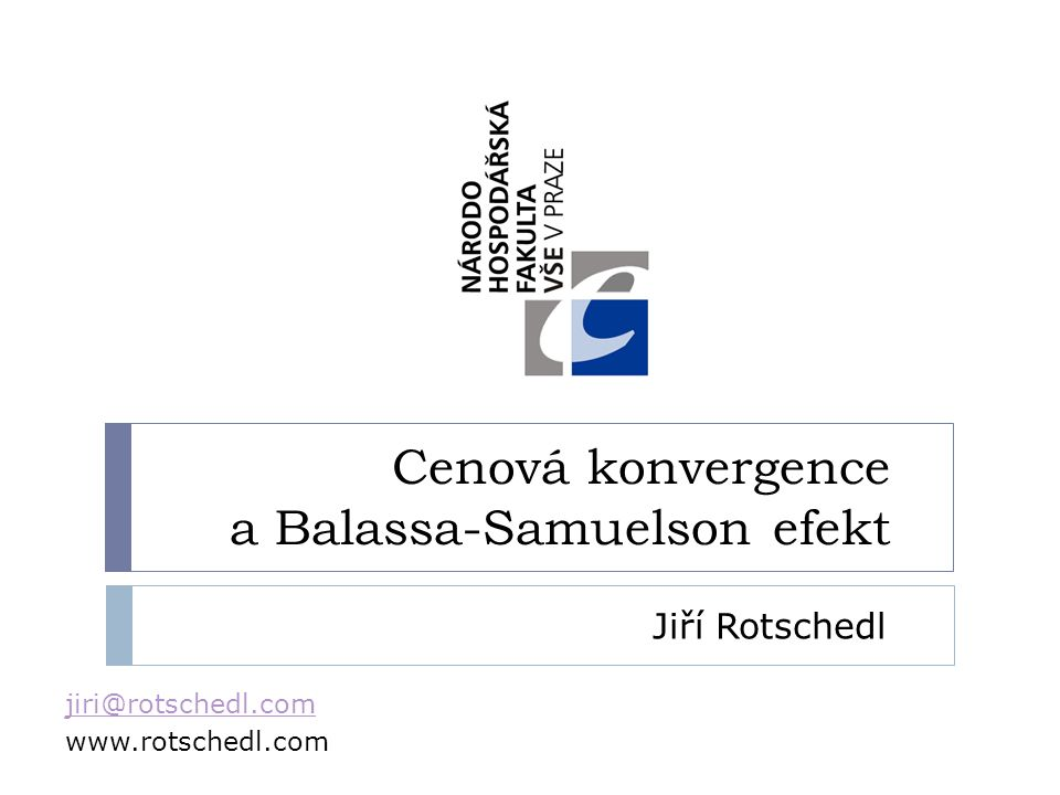 Cenová konvergence a Balassa-Samuelson efekt