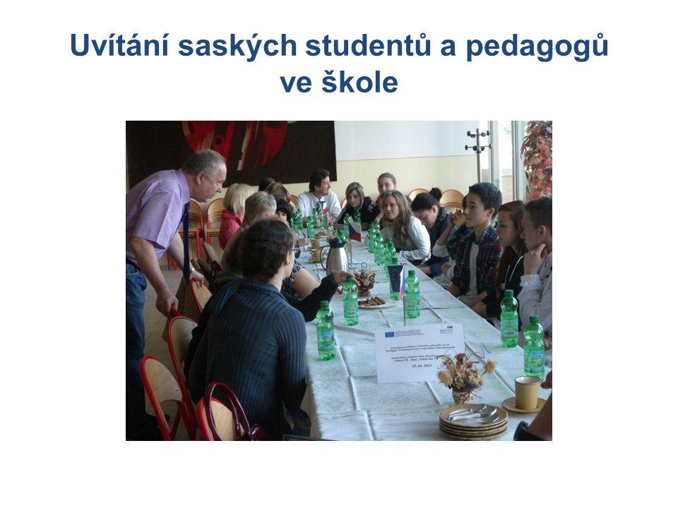 Uvítání saských studentů a pedagogů ve škole