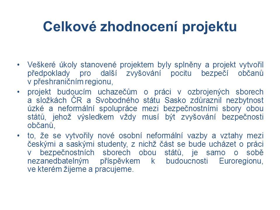 Celkové zhodnocení projektu