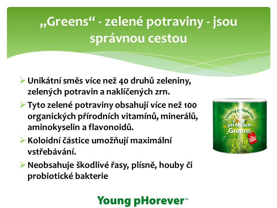 """""""Greens - zelené potraviny - jsou správnou cestou"""