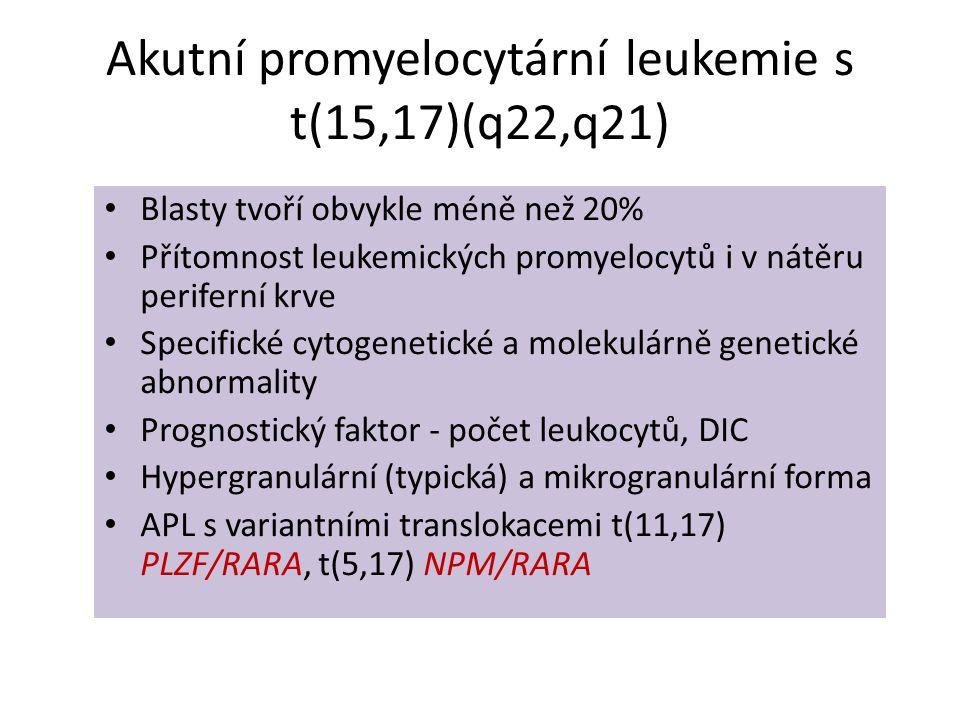 Akutní promyelocytární leukemie s t(15,17)(q22,q21)