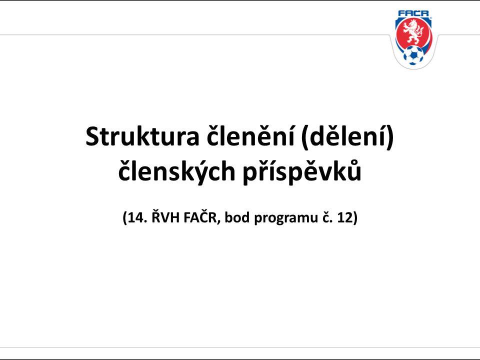 Struktura členění (dělení) členských příspěvků (14