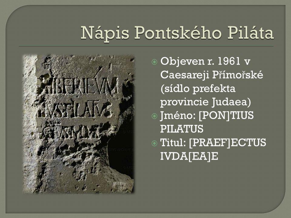 Nápis Pontského Piláta