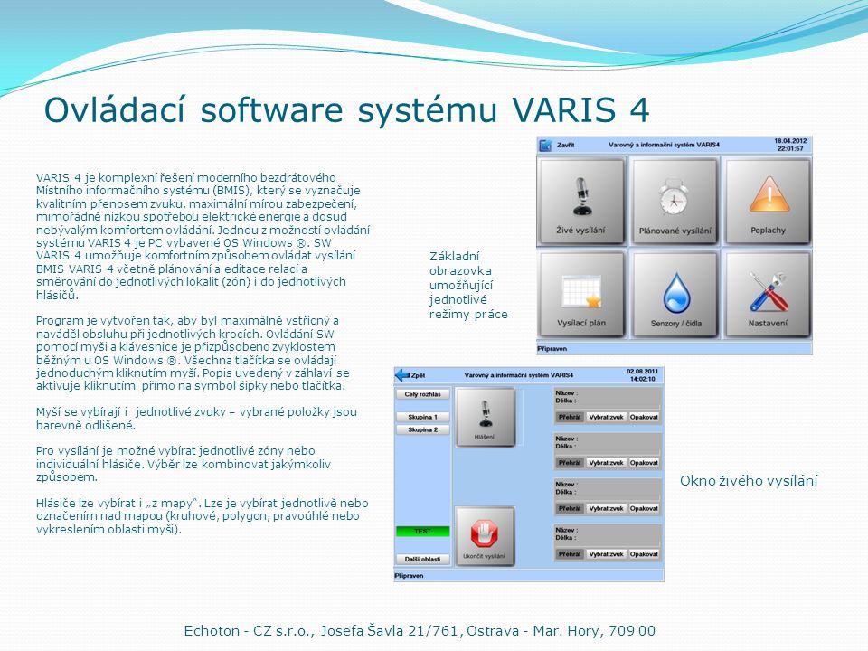 Ovládací software systému VARIS 4