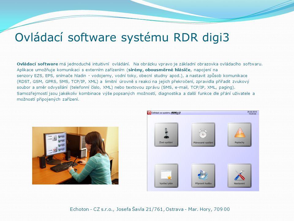 Ovládací software systému RDR digi3