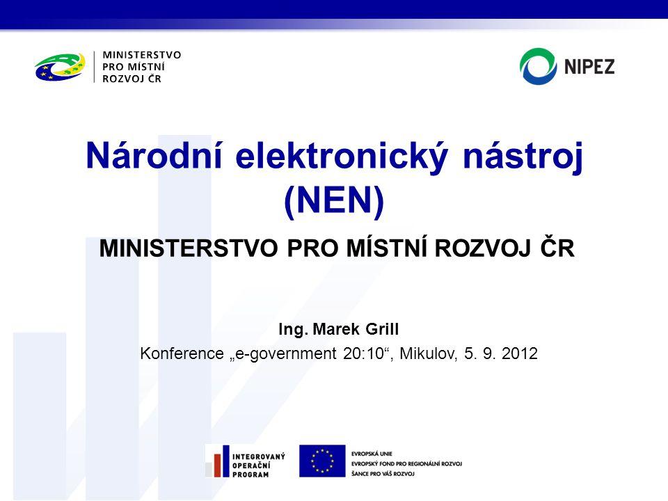 Národní elektronický nástroj (NEN)