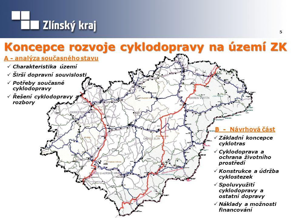 Koncepce rozvoje cyklodopravy na území ZK