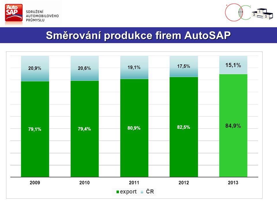 Směrování produkce firem AutoSAP