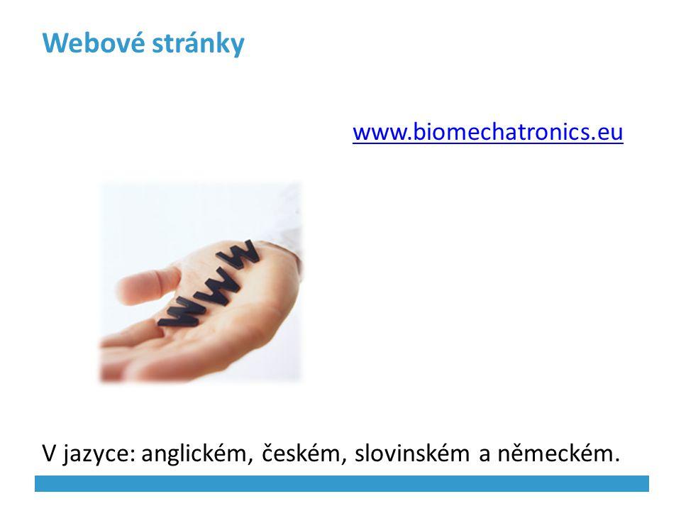 Webové stránky www.biomechatronics.eu