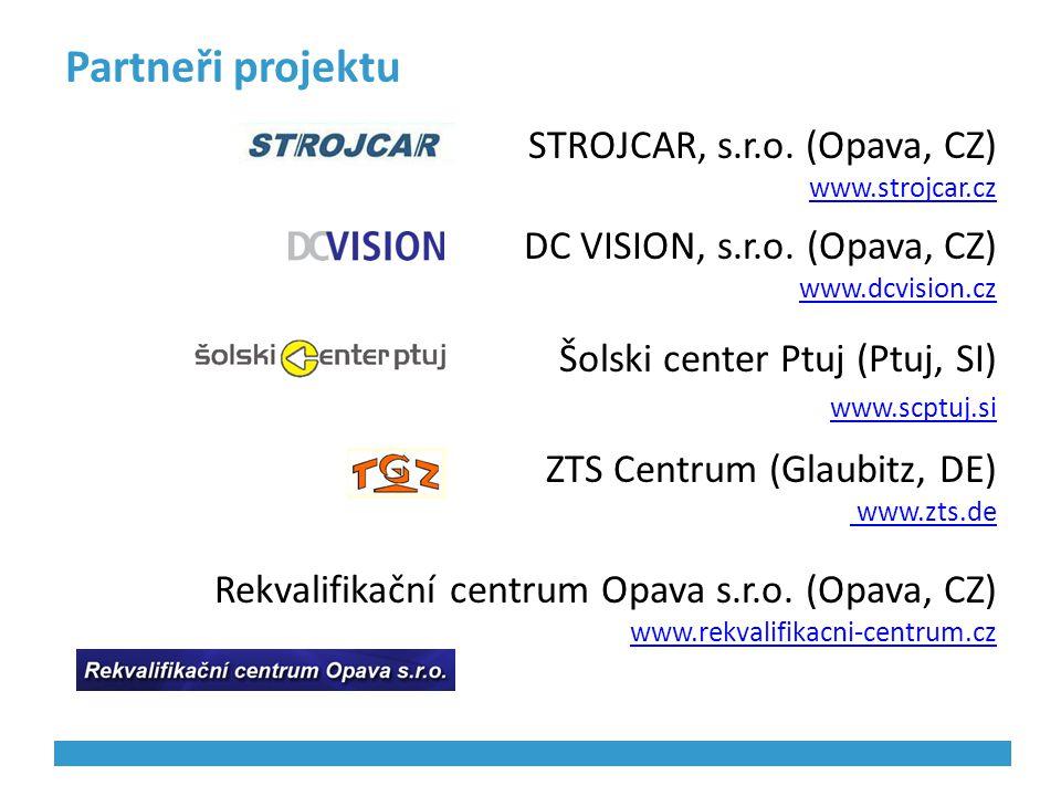 Partneři projektu STROJCAR, s.r.o. (Opava, CZ)