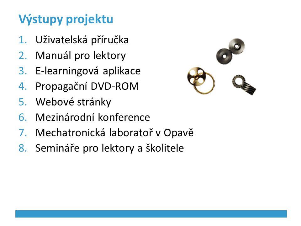 Výstupy projektu Uživatelská příručka Manuál pro lektory