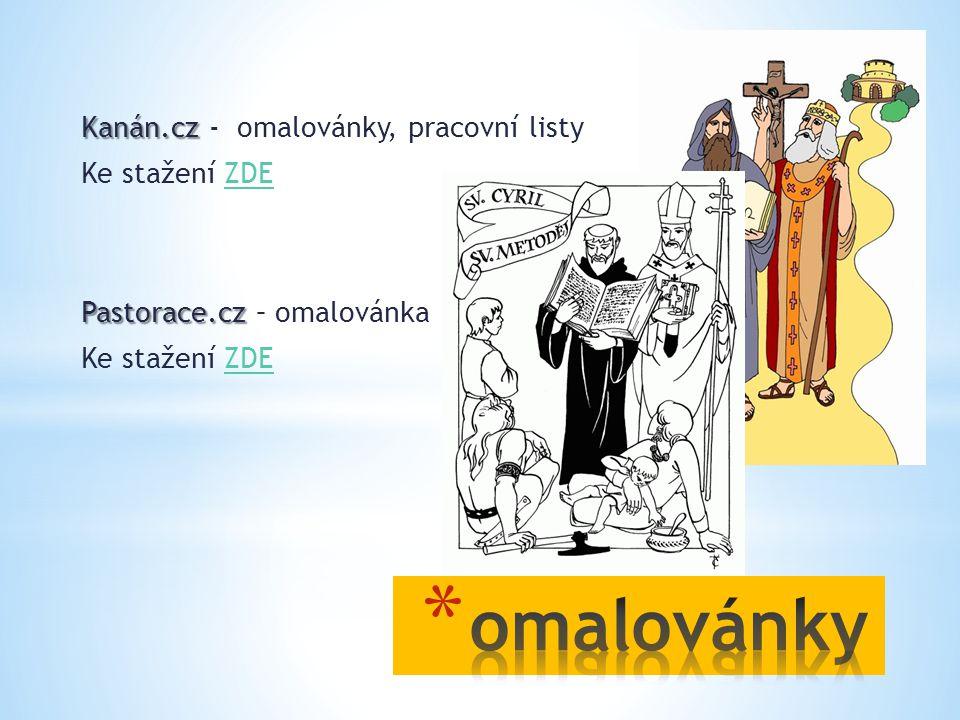 omalovánky Kanán.cz - omalovánky, pracovní listy Ke stažení ZDE