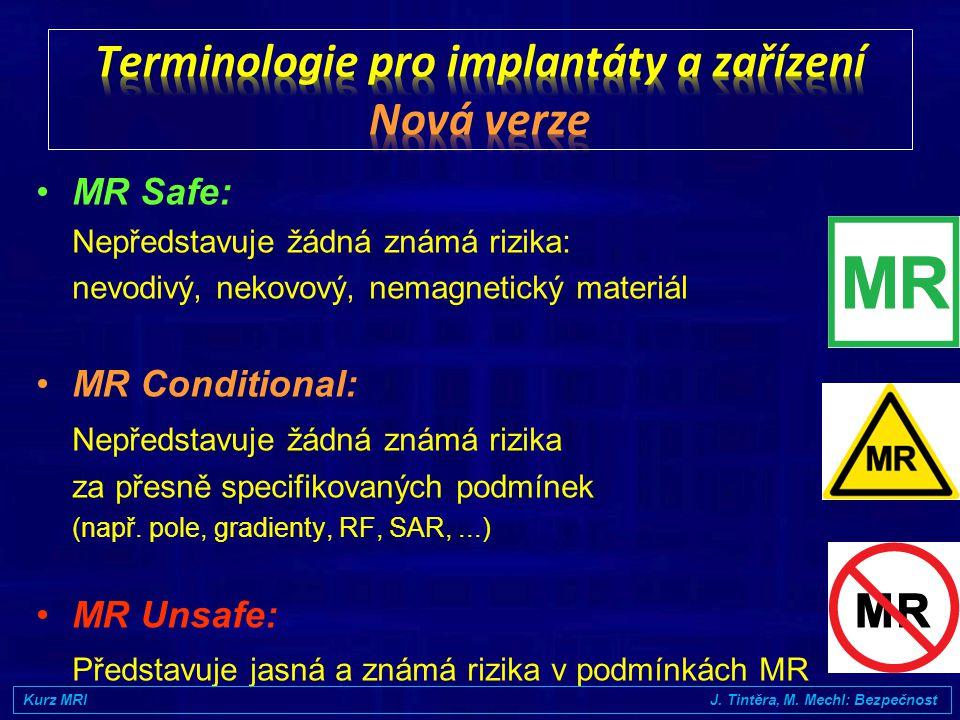 Terminologie pro implantáty a zařízení Nová verze