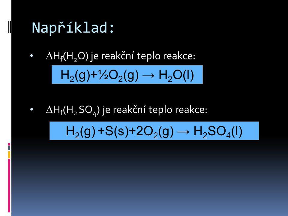 H2(g) +S(s)+2O2(g) → H2SO4(l)