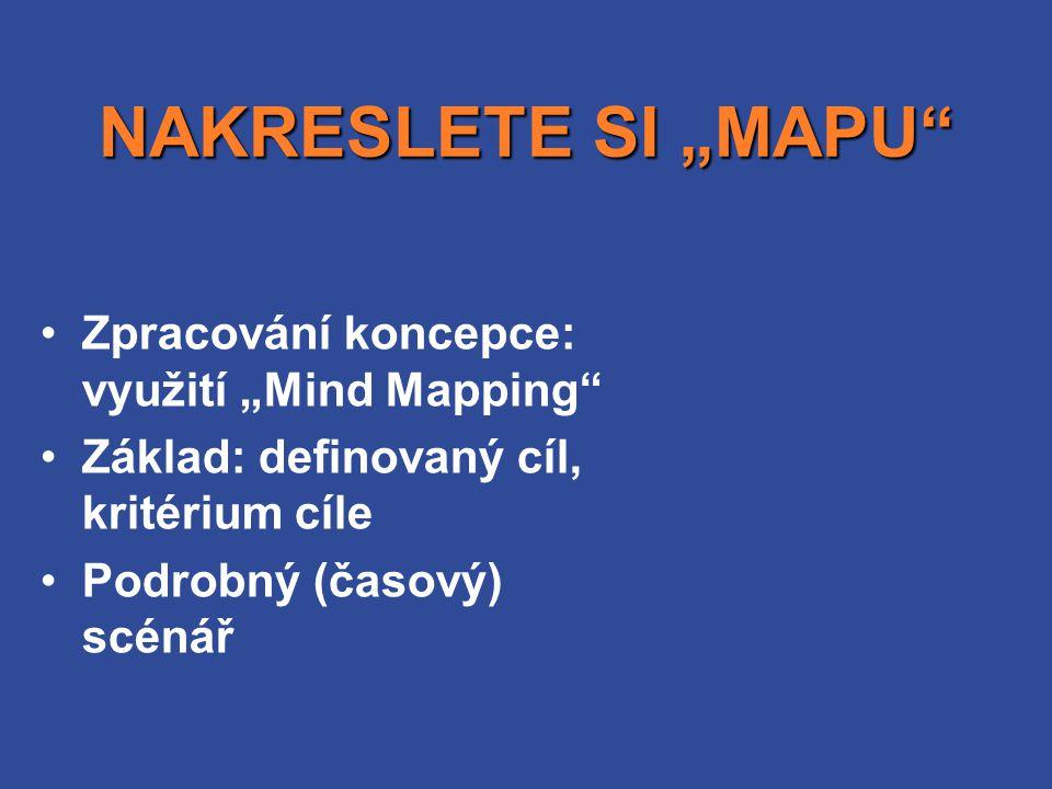 """NAKRESLETE SI """"MAPU Zpracování koncepce: využití """"Mind Mapping"""
