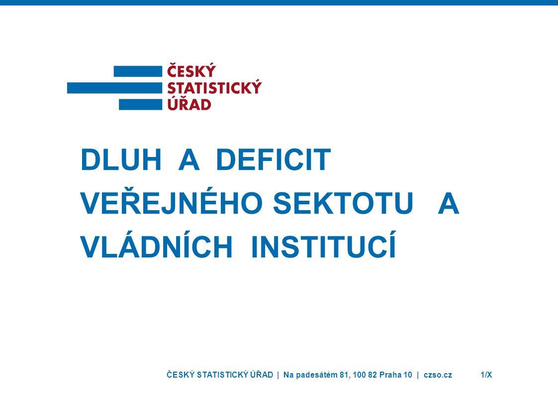 dluh a deficit VeřejnÉHO SEKTOTU A VládníCH INSTITUCÍ
