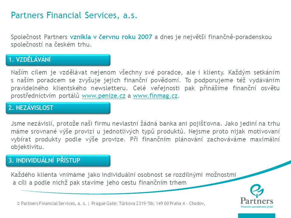 Partners Financial Services, a.s.