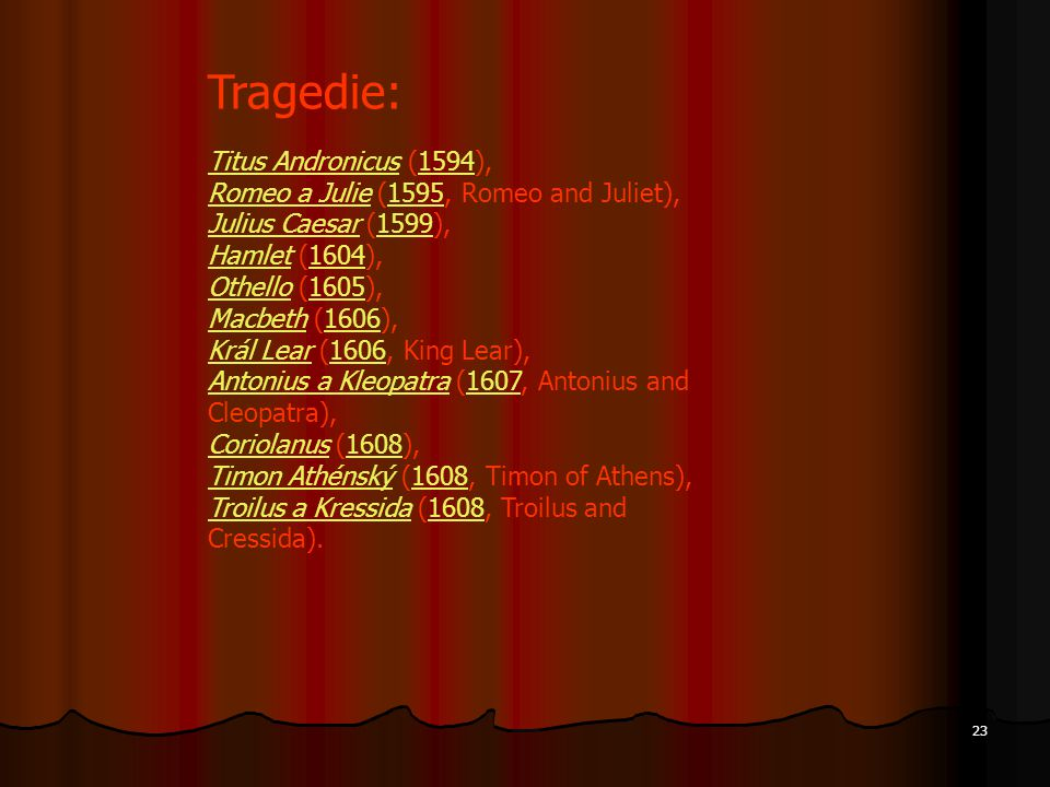 Tragedie: Titus Andronicus (1594),