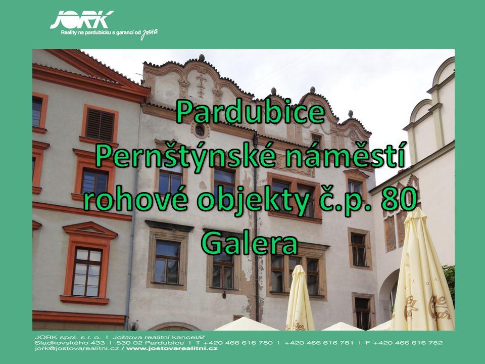 Pernštýnské náměstí rohové objekty č.p. 80 Galera