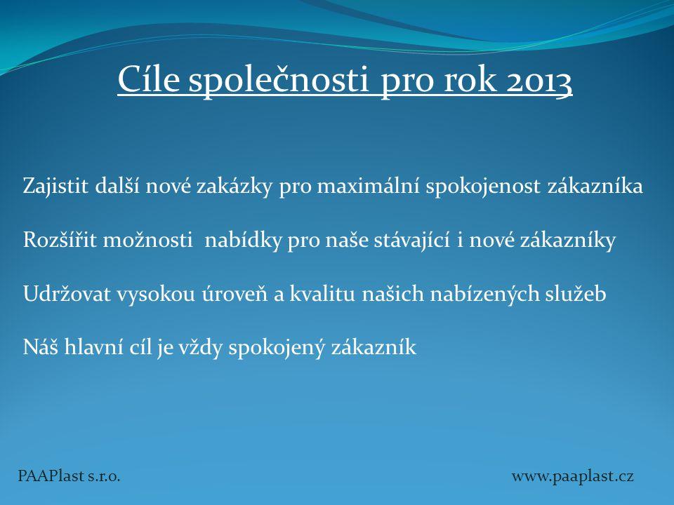 Cíle společnosti pro rok 2013