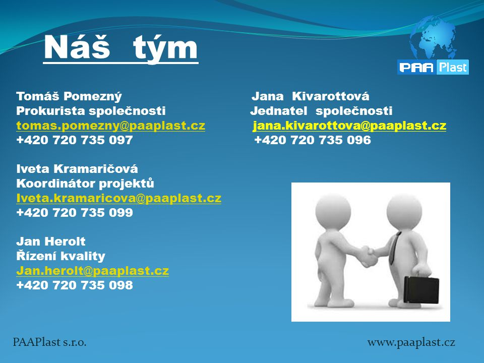 Náš tým Tomáš Pomezný Jana Kivarottová